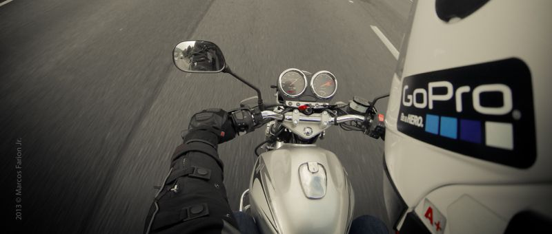 Motorcycle GoPro Helmet mount